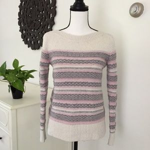 LOFT | Knitted striped sweater size Small